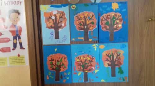 """Obrazek galerii """"Co robią zwierzęta jesienią?""""- grupa 6."""