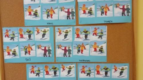 """Obrazek galerii """"Zabawy z zimą""""- grupa 5."""