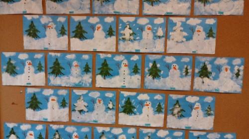 """Obrazek galerii """"Czekamy na zimę""""- grupa 5."""