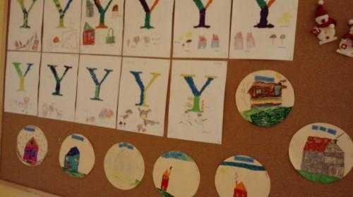 """Obrazek galerii """"Utrwalamy literę Y""""- grupa 5."""