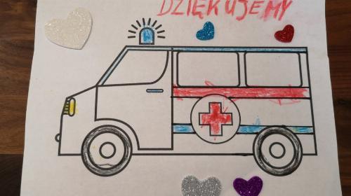 Obrazek galerii Bielskie przedszkolaki dla medyków