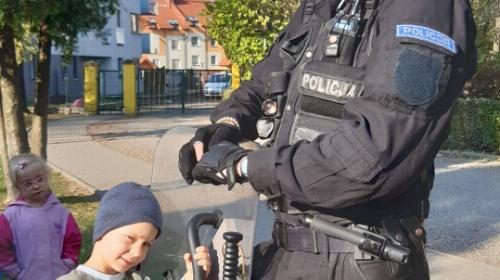 Obrazek galerii spotkanie z policjantem