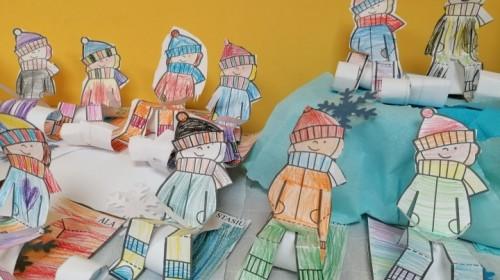 Obrazek galerii ''Zabawy na śniegu'' -  grupa 6.