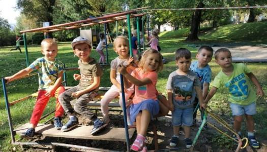 Obrazek newsa Wesołe zabawy w ogrodzie przedszkolnym.