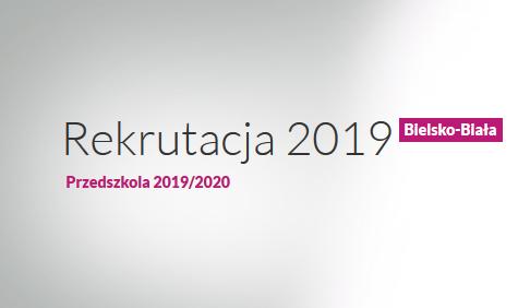 Obrazek newsa Rekrutacja do Przedszkoli na rok szkolny 2019/2020