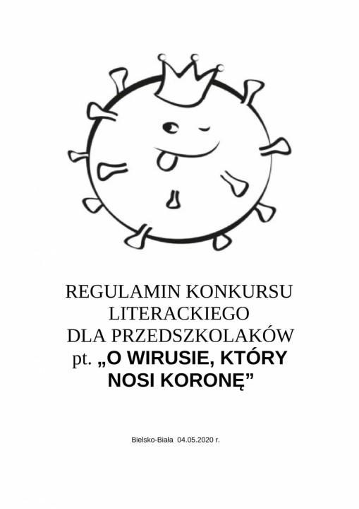 Obrazek newsa Konkurs literacki - ''O wirusie, który nosi koronę''